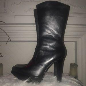 Jill-Joy Blk Leather Boot